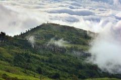 Morgennebel und -wolke Stockbild