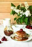 Morgenpfannkuchen Stockbild