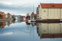 Morgenreflexion von Gdansk Stockbild