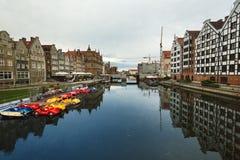 Morgenreflexion von Gdansk Lizenzfreies Stockfoto