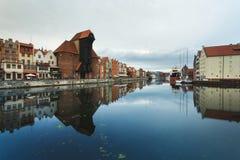 Morgenreflexion von Gdansk Lizenzfreie Stockbilder