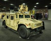 2016: Morgens allgemeines HMMWV (Humvee) Stockbilder