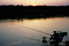 Morgens fischen Stockfoto