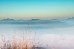 Morgens im Tal von Wolken Lizenzfreie Stockfotos