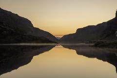 6 morgens in Norwegen Lizenzfreies Stockbild