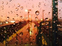 Morgens regnen Stockfoto