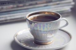 Morgenschale coffe (Espresso) Lizenzfreie Stockfotografie