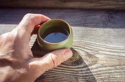 Morgenschale eines Tees Lizenzfreie Stockbilder