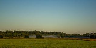 Morgenskizzen der Sommerlandschaft Stockbilder