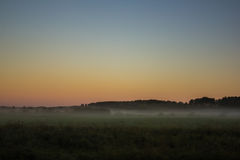 Morgenskizzen der Sommerlandschaft Lizenzfreie Stockbilder