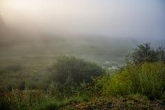 Morgenskizzen der Sommerlandschaft Lizenzfreie Stockfotos