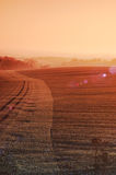 Morgensonne im Oktober Lizenzfreies Stockfoto