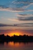 Morgensonnenaufgang Stockfoto