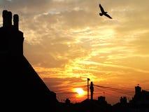 Morgensonnenaufgang in Liverpool Großbritannien lizenzfreie stockfotografie