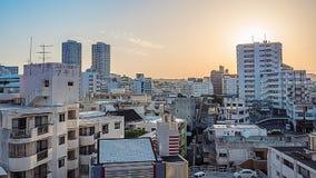 Morgensonnenaufgang in Naha, Okinawa, Japan stock video footage