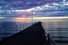Morgensonnenaufgang Tumby-Bucht Stockbild