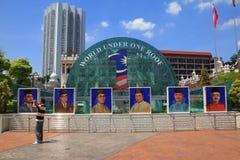 Morgenstadtansicht von merdeka Quadrat von Kuala Lumpur am Nationaltag Lizenzfreies Stockfoto