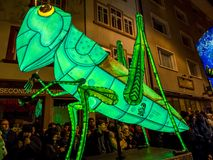 Morgenstraich at Basler Fasnacht, Basel, Switzerland. Morgestraich, carnival procession at night, Basler Fasnacht, Carnival of Basel, Basel, canton Basel stock image