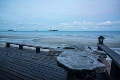 Morgenzeit auf dem Strand Stockbild