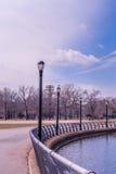 Morgenzeit eines Parks Lizenzfreie Stockfotos