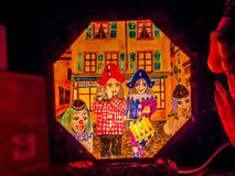 Morgenstraich at Basler Fasnacht, Basel, Switzerland. Morgestraich, carnival procession at night, Basler Fasnacht, Carnival of Basel, Basel, canton Basel royalty free stock photos