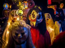 Morgenstraich at Basler Fasnacht, Basel, Switzerland. Morgestraich, carnival procession at night, Basler Fasnacht, Carnival of Basel, Basel, canton Basel stock photography