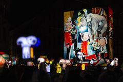 Morgestraichparade van Bazel Carnaval 2019 stock afbeelding