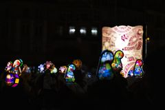 Morgestraichparade van Bazel Carnaval 2019 stock foto's