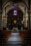Morgex: Di Santa Maria Assunta February 2017 di Chiesa Immagine Stock Libera da Diritti