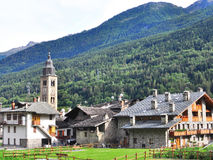 Morgex, Italie Image libre de droits