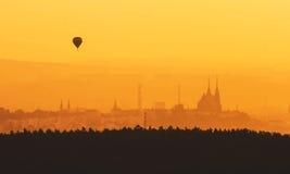 Morgon över Brno Fotografering för Bildbyråer