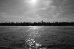 Morgon över Donau Arkivfoton