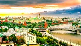 Morgon över MoskvaKreml i solen Royaltyfria Bilder