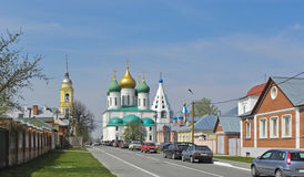 Morgon av den forntida staden som lokaliseras i den centrala Ryssland Royaltyfri Fotografi