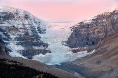 Morgon av Icefield och glaciärer Arkivbild