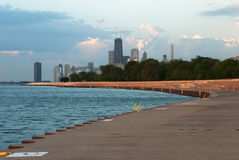 Morgon Chicago, Illinois Fotografering för Bildbyråer