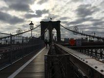 Morgon för Brooklyn bro Arkivfoto