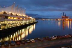 Morgon för Burrard öppningsstrand, Vancouver Arkivbild
