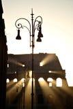 morgon för första lampa för colosseum Royaltyfri Bild