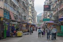 Morgon för gatamarknad Arkivbild