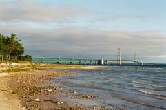 Morgon för Mackinac bro Royaltyfria Bilder
