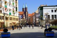 Morgon för stad på våren Arkivbild