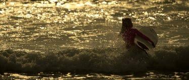 Morgon för surfare` s Arkivfoto
