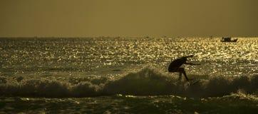 Morgon för surfare` s Arkivbilder