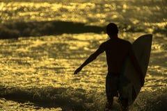 Morgon för surfare` s Royaltyfri Fotografi