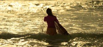 Morgon för surfare` s Arkivbild