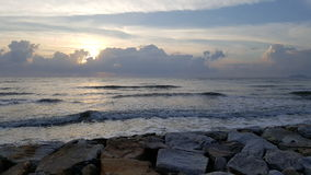 Morgon havet Thailand Arkivbild