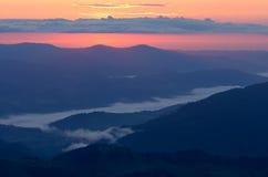 Morgon i bergen Fotografering för Bildbyråer