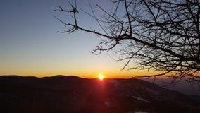 Morgon i berget arkivfoto