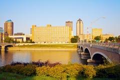 Morgon i Des Moines Arkivfoto